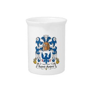 Escudo de la familia de Santo-Andre Jarra Para Bebida