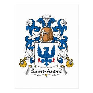 Escudo de la familia de Santo-Andre Postales