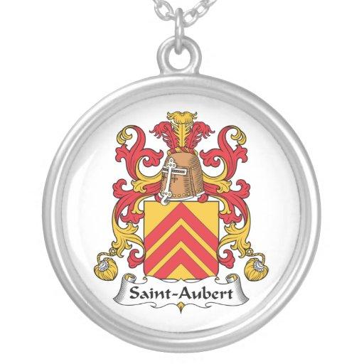 Escudo de la familia de Santo-Aubert Colgante Redondo