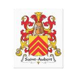 Escudo de la familia de Santo-Aubert Impresiones En Lona Estiradas