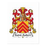 Escudo de la familia de Santo-Aubert Postal
