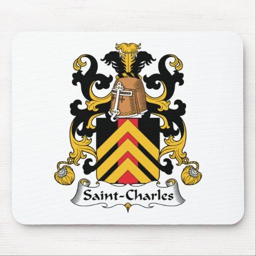 Escudo de la familia de Santo-Charles Mousepads