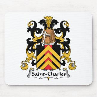 Escudo de la familia de Santo-Charles Tapetes De Ratones