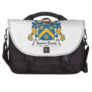 Escudo de la familia de Santo-Denis Bolsas Para Portátil