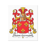 Escudo de la familia de Santo-Germán Impresion De Lienzo