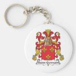 Escudo de la familia de Santo-Germán Llavero Personalizado