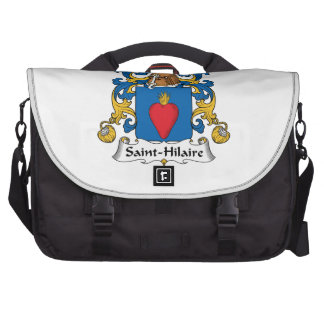 Escudo de la familia de Santo-Hilario Bolsas De Ordenador