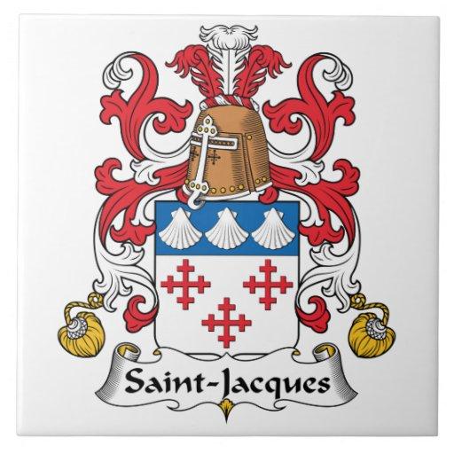 Escudo de la familia de Santo-Jacques Azulejos