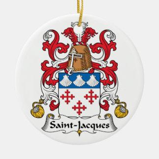 Escudo de la familia de Santo-Jacques Adorno Redondo De Cerámica
