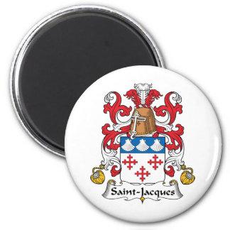 Escudo de la familia de Santo-Jacques Imán Redondo 5 Cm