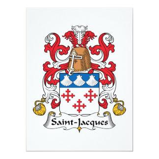 """Escudo de la familia de Santo-Jacques Invitación 6.5"""" X 8.75"""""""