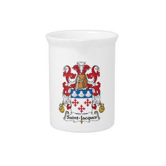 Escudo de la familia de Santo-Jacques Jarra De Beber