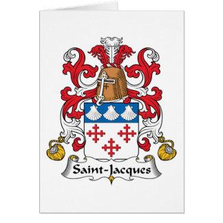 Escudo de la familia de Santo-Jacques Tarjeta De Felicitación