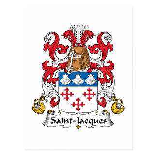Escudo de la familia de Santo-Jacques Tarjetas Postales