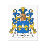Escudo de la familia de Santo-Jean Lona Envuelta Para Galerias