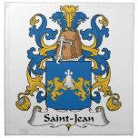 Escudo de la familia de Santo-Jean Servilletas