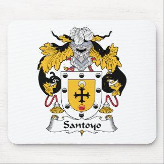 Escudo de la familia de Santos Alfombrillas De Ratón