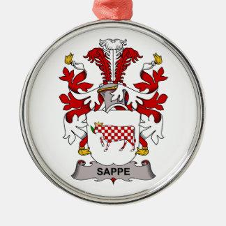 Escudo de la familia de Sappe Adorno Redondo Plateado