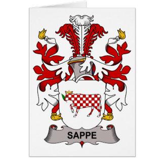 Escudo de la familia de Sappe Tarjeta De Felicitación