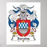Escudo de la familia de Saraiva Impresiones