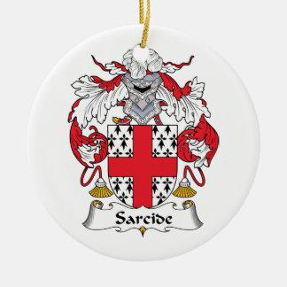 Escudo de la familia de Sarcide Adorno Redondo De Cerámica