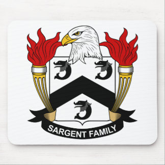 Escudo de la familia de Sargent Tapetes De Raton