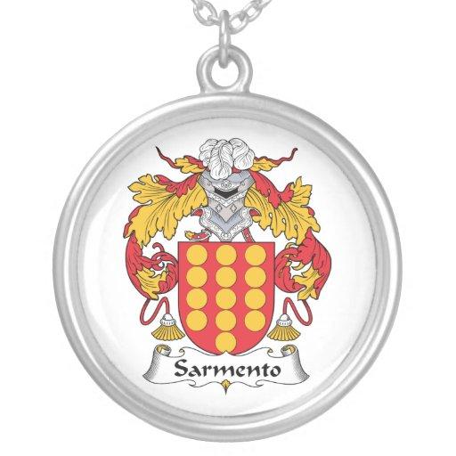 Escudo de la familia de Sarmento Pendiente Personalizado