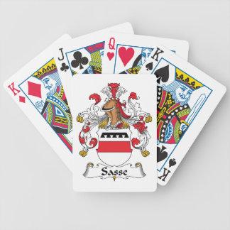 Escudo de la familia de Sasse Baraja Cartas De Poker
