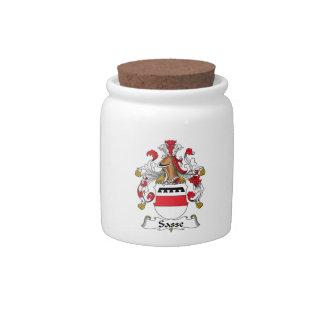 Escudo de la familia de Sasse Platos Para Caramelos