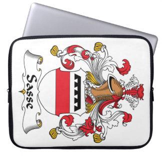 Escudo de la familia de Sasse Funda Portátil