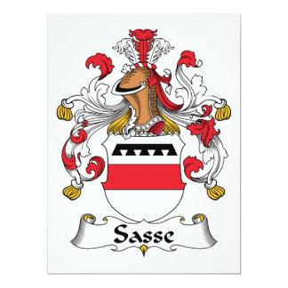 """Escudo de la familia de Sasse Invitación 6.5"""" X 8.75"""""""