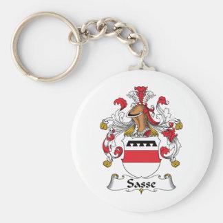 Escudo de la familia de Sasse Llavero Redondo Tipo Pin