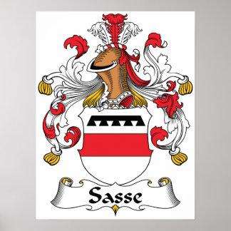 Escudo de la familia de Sasse Póster