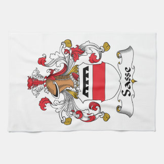 Escudo de la familia de Sasse Toalla De Mano