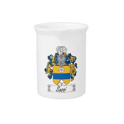 Escudo de la familia de Sassi Jarrón