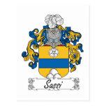 Escudo de la familia de Sassi Tarjeta Postal