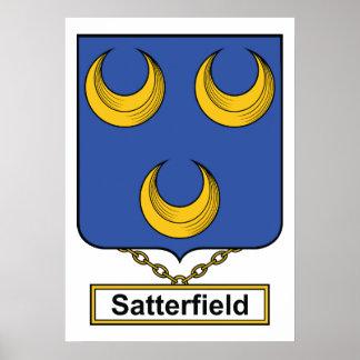 Escudo de la familia de Satterfield Póster