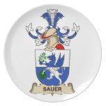 Escudo de la familia de Sauer Platos De Comidas