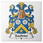 Escudo de la familia de Saulnier Azulejos