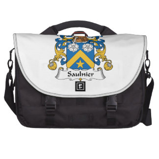 Escudo de la familia de Saulnier Bolsas Para Portatil