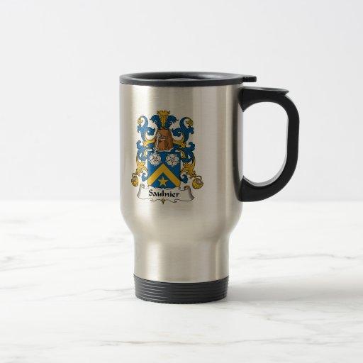 Escudo de la familia de Saulnier Taza De Café