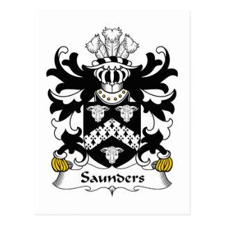 Escudo de la familia de Saunders Postal