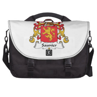 Escudo de la familia de Saunier Bolsas Para Ordenador