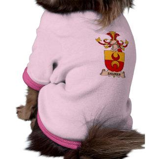 Escudo de la familia de Saurer Camisetas De Perrito