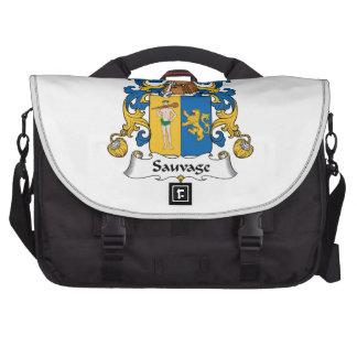 Escudo de la familia de Sauvage Bolsas Para Portátil