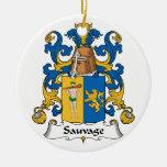 Escudo de la familia de Sauvage Ornamentos De Reyes