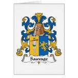 Escudo de la familia de Sauvage Tarjeta