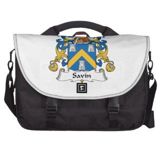 Escudo de la familia de Savin Bolsas De Ordenador