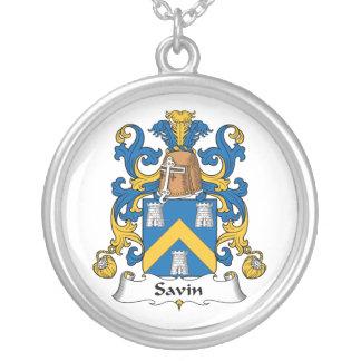 Escudo de la familia de Savin Colgante Personalizado