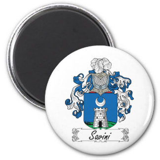 Escudo de la familia de Savini Imán Redondo 5 Cm